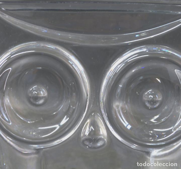 Antigüedades: Búho en vidrio cristal firmado Orrefors Olle Alberius Expo A 216 72 siglo XX - Foto 2 - 183891221