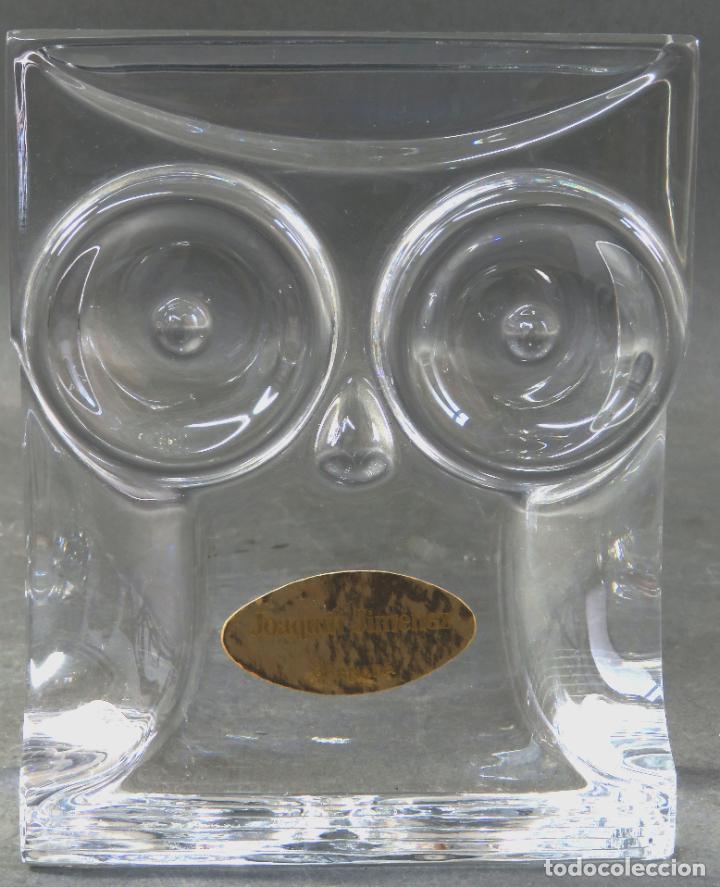 BÚHO EN VIDRIO CRISTAL FIRMADO ORREFORS OLLE ALBERIUS EXPO A 216 72 SIGLO XX (Antigüedades - Cristal y Vidrio - Orrefors )