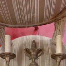 Antigüedades: PAREJA DE APLIQUES BRONCE ANTIGUOS. Lote 183892445