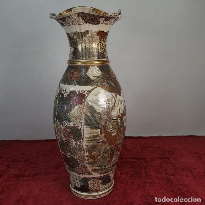 Antigüedades: GRAN JARRÓN SATSUMA. PORCELANA ESMALTADA Y DORADA. JAPÓN. SIGLO XIX - Foto 5 - 183898196