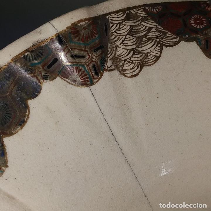 Antigüedades: GRAN JARRÓN SATSUMA. PORCELANA ESMALTADA Y DORADA. JAPÓN. SIGLO XIX - Foto 6 - 183898196