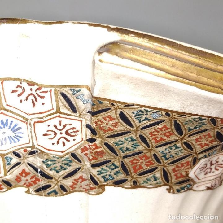 Antigüedades: GRAN JARRÓN SATSUMA. PORCELANA ESMALTADA Y DORADA. JAPÓN. SIGLO XIX - Foto 8 - 183898196