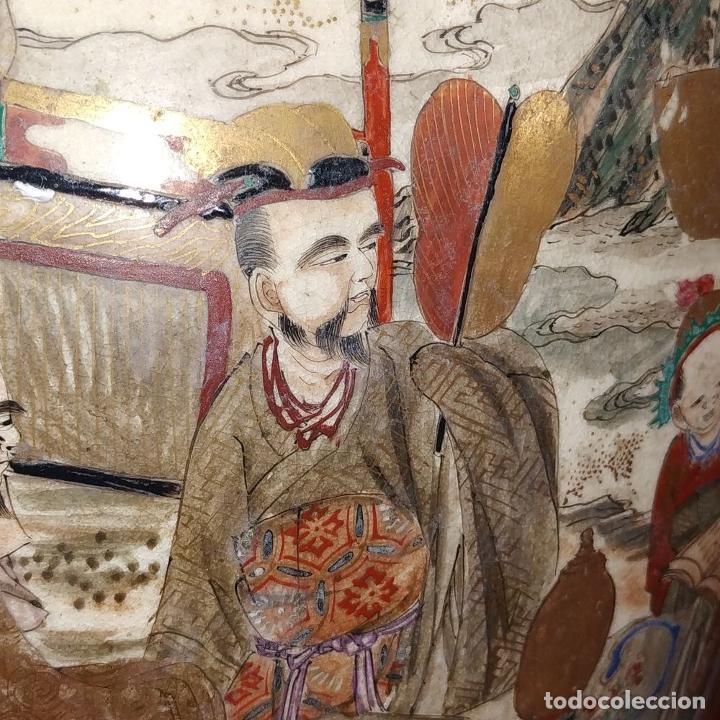 Antigüedades: GRAN JARRÓN SATSUMA. PORCELANA ESMALTADA Y DORADA. JAPÓN. SIGLO XIX - Foto 10 - 183898196