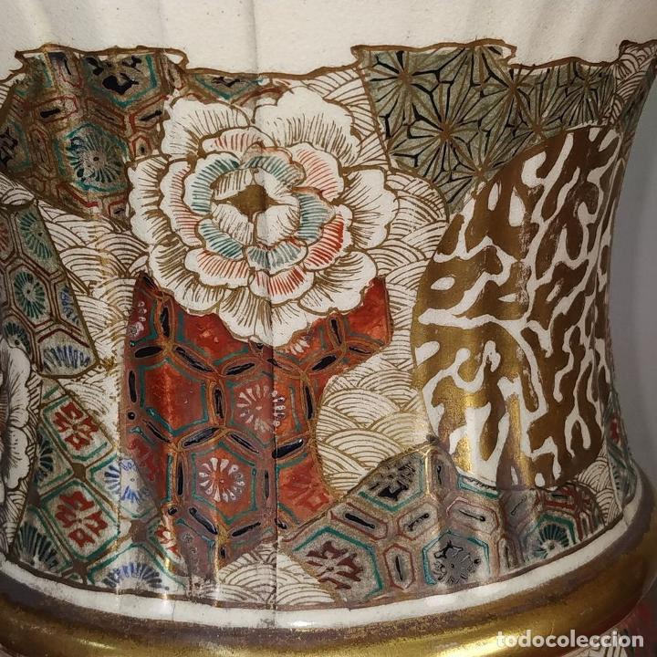 Antigüedades: GRAN JARRÓN SATSUMA. PORCELANA ESMALTADA Y DORADA. JAPÓN. SIGLO XIX - Foto 11 - 183898196