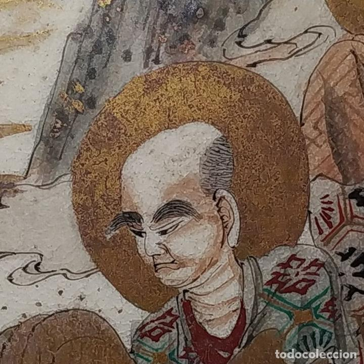 Antigüedades: GRAN JARRÓN SATSUMA. PORCELANA ESMALTADA Y DORADA. JAPÓN. SIGLO XIX - Foto 14 - 183898196