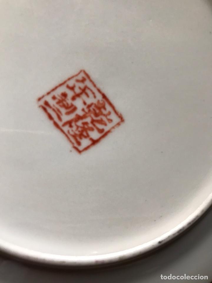 Antigüedades: Plato, cuchara y cuenco de porcelana china de Macao antiguo - Foto 10 - 183913566