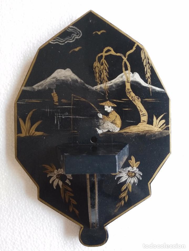 LOTE 3 BALDAS ORIENTALES ANTIGUAS (Antigüedades - Muebles Antiguos - Repisas Antiguas)