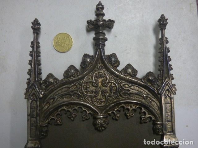 Antigüedades: soporte gotico para evangelios en broce - Foto 2 - 183922537