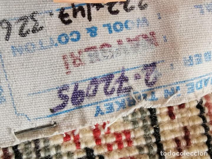 Antigüedades: ALFOMBRA TURCA KAYSERI AÑOS 50 HANDMADE NUDO TURCO LANA Y ALGODON--IMPECABLE 250 X 150-----REF-1AC - Foto 27 - 183924135