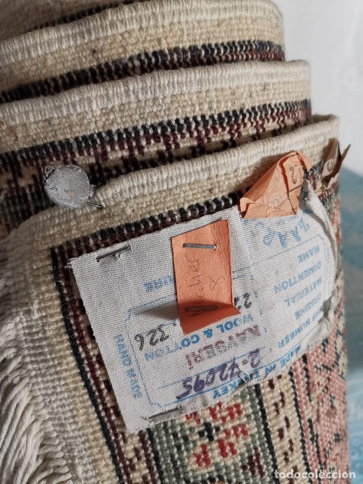 Antigüedades: ALFOMBRA TURCA KAYSERI AÑOS 50 HANDMADE NUDO TURCO LANA Y ALGODON--IMPECABLE 250 X 150-----REF-1AC - Foto 32 - 183924135