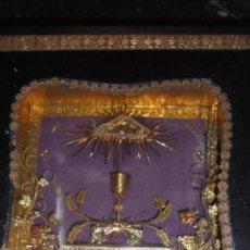 Antigüedades: ANTIGUO RELICARIO S.XIX PIERRE SAINT SEPULCRE DE N.S. J.C. TERRE DE LA GROITE RELICARIO REALIZADO . Lote 183926157