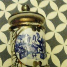 Antigüedades: ANTIGUO TARRO PORCELANA DE BOHEMIA. Lote 183935981
