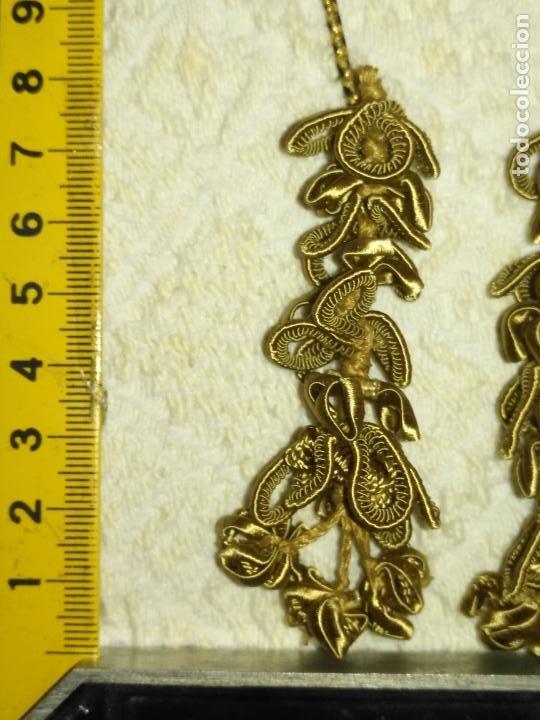 Antigüedades: N3 Pareja CAIRELES borlas siglo xix perfecto estado para cingulo niño jesus o virgen epoca afonsina - Foto 13 - 208182508