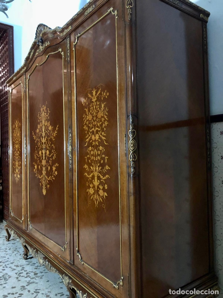 Antigüedades: Armario o ropero Luis XV - Foto 14 - 183957395