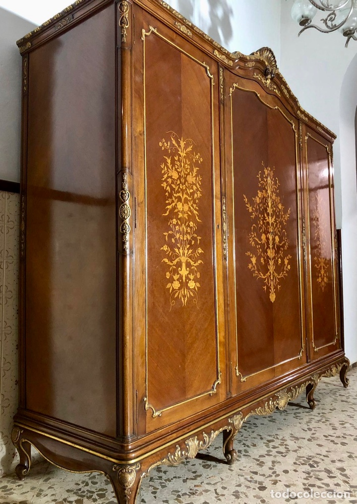 Antigüedades: Armario o ropero Luis XV - Foto 17 - 183957395