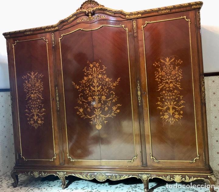Antigüedades: Armario o ropero Luis XV - Foto 20 - 183957395