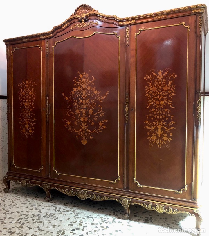 Antigüedades: Armario o ropero Luis XV - Foto 21 - 183957395