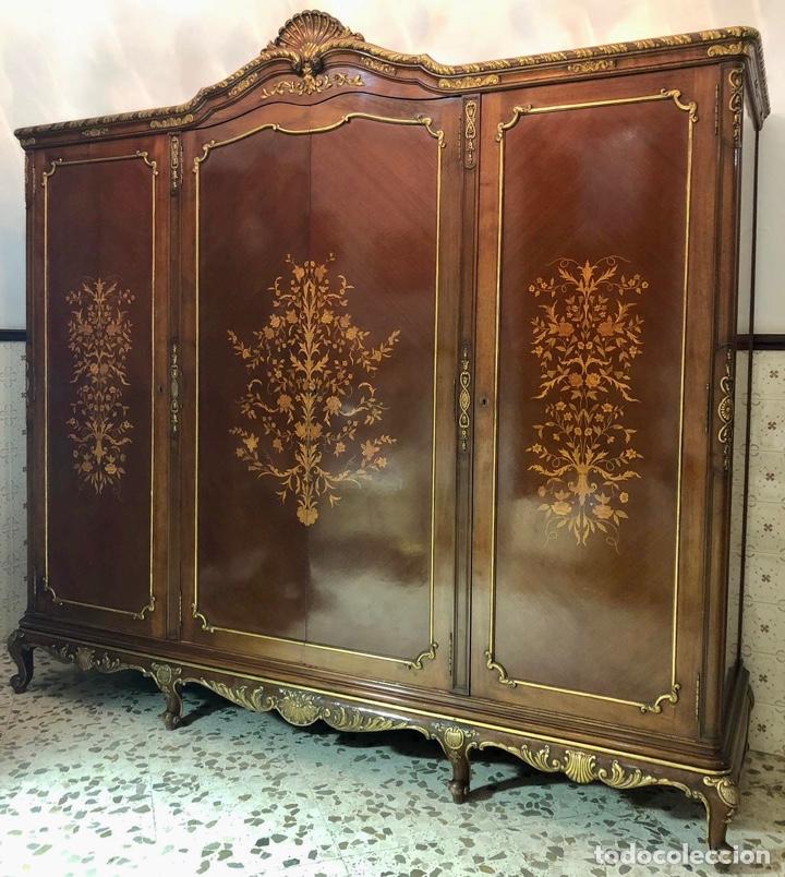 Antigüedades: Armario o ropero Luis XV - Foto 24 - 183957395