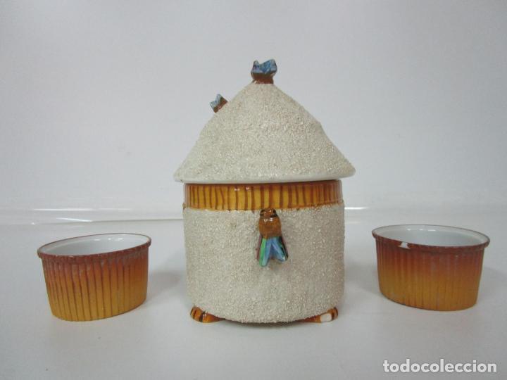 Antigüedades: Azucarera y 2 Tazas, Art Decó - Sello Walküre, Bavaria - Porcelana Alemana - Años 20-30 - Foto 3 - 183973185