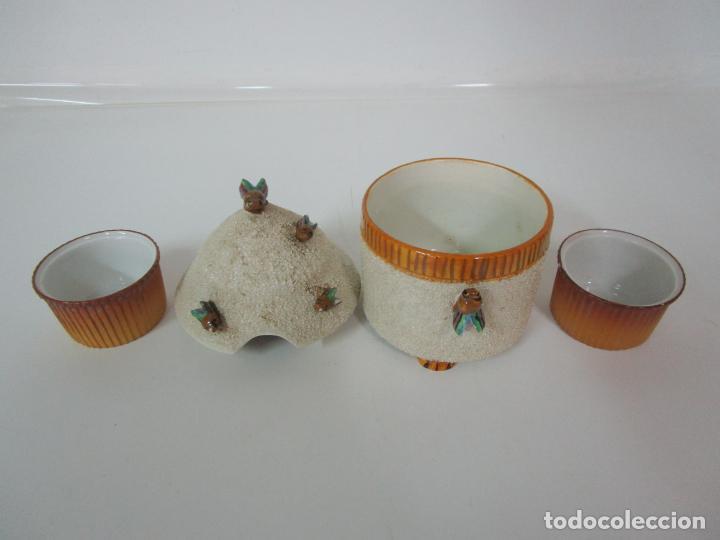 Antigüedades: Azucarera y 2 Tazas, Art Decó - Sello Walküre, Bavaria - Porcelana Alemana - Años 20-30 - Foto 9 - 183973185