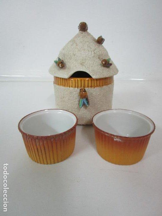 Antigüedades: Azucarera y 2 Tazas, Art Decó - Sello Walküre, Bavaria - Porcelana Alemana - Años 20-30 - Foto 17 - 183973185