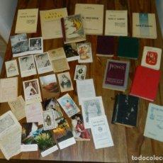 Antigüedades: 1930 LOTE LIBROS RELIGIOSOS Y ESTAMPITAS. Lote 183975256