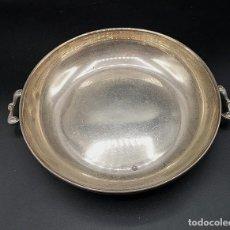 Antigüedades: RECIPIENTE EN PLATA. Lote 183983313