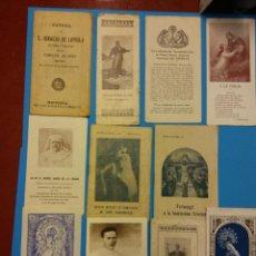 Antigüedades: LOTE DE RECORDATORIOS RELIGIOSOS ANTIGUOS. COMPLETA TU COLECCION. Lote 183987563