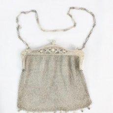 Antigüedades: PRECIOSO BOLSO S XIX PLATA 800. Lote 183998147