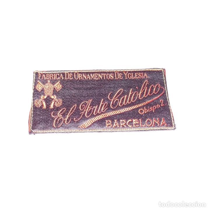 Antigüedades: CASULLA FESTIVA Y ORNAMENTOS LITÚRGICOS. SEDA. BORDADOS. EL ARTE CATÓLICO. ESPAÑA. XIX-XX - Foto 6 - 184004167