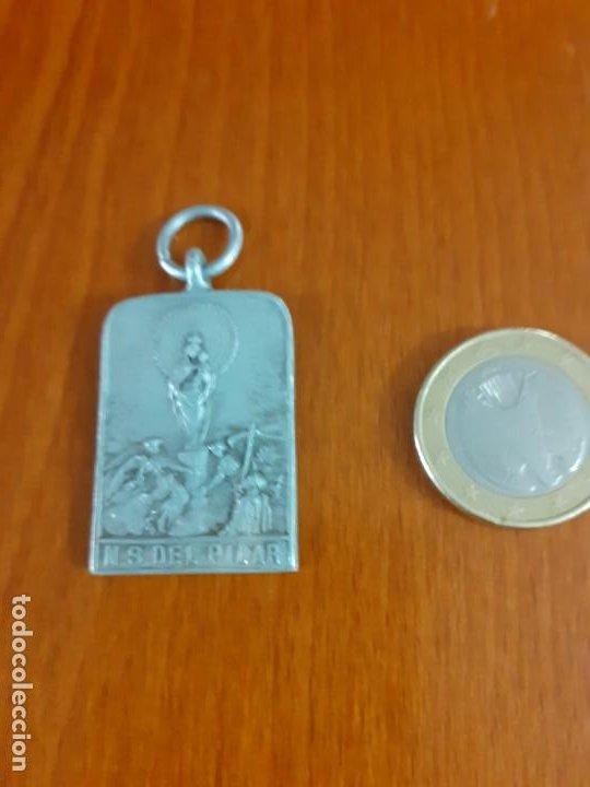 MEDALLA DE NIQUEL PEREGRINACION AL PILAR (Antigüedades - Religiosas - Medallas Antiguas)