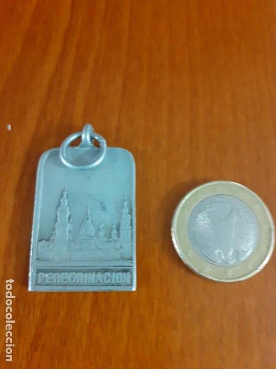 Antigüedades: medalla de niquel peregrinacion al Pilar - Foto 2 - 184009415