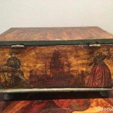 Antigüedades: PEQUEÑA CAJA LACA POVERA SIGLO 18, RARA. Lote 184009746