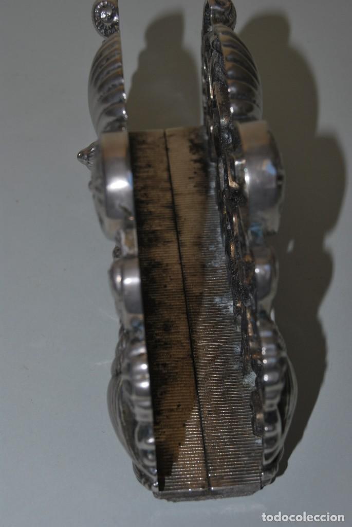 Antigüedades: SERVILLETERO MARINO - CONCHAS, CABALLITOS DE MAR - GODINGER SILVER PLATED - Foto 6 - 184016591