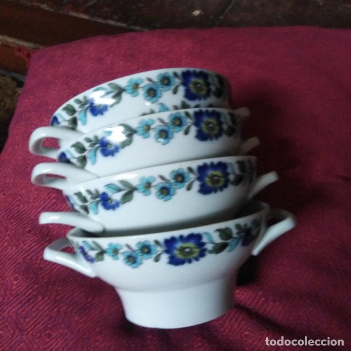Antigüedades: Antiguos Tazones de porcelana de la fábrica de Santa Clara, año 1930 - Foto 2 - 184028098