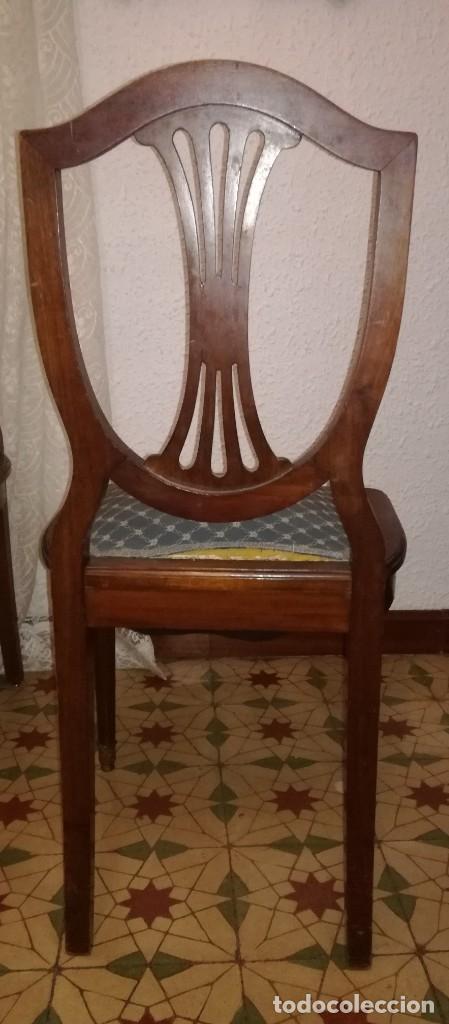 Antigüedades: 2 sillas caoba tapizadas - Foto 3 - 184054465