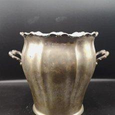 Antigüedades: RECIPIENTE EN PLATA. Lote 184056285