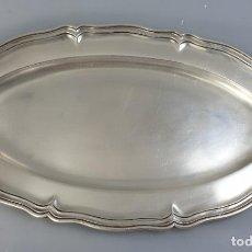 Antigüedades: BANDEJA DE PLATA LEY MARCADO CON CONTRASTE. Lote 184089871