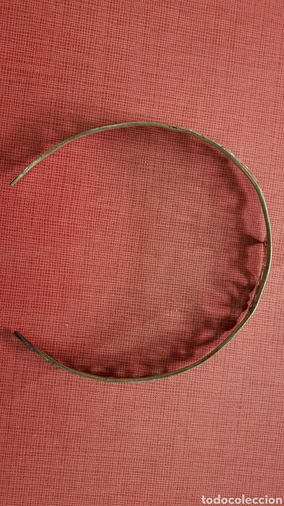 Antigüedades: Antigua tiara diadema en bronce bañada en plata - Foto 3 - 184100546