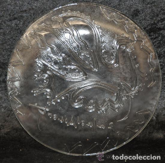 Antigüedades: clasico plato cristal Rafael Alberti autentico, original, correcto, decoracion, Navidad, precioso - Foto 3 - 184107701