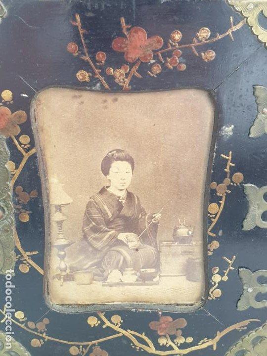 Antigüedades: CAJA MADERA CHINO CHINA SIGLO XIX - Foto 2 - 184110360