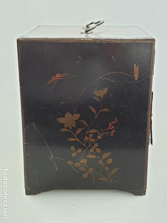 Antigüedades: CAJA MADERA CHINO CHINA SIGLO XIX - Foto 3 - 184110360