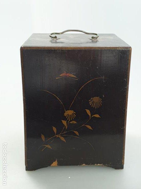 Antigüedades: CAJA MADERA CHINO CHINA SIGLO XIX - Foto 4 - 184110360