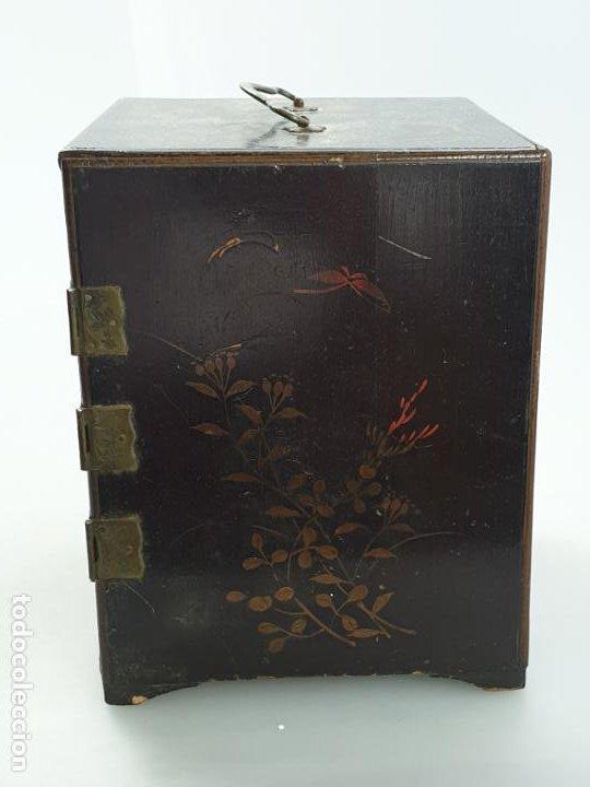 Antigüedades: CAJA MADERA CHINO CHINA SIGLO XIX - Foto 5 - 184110360
