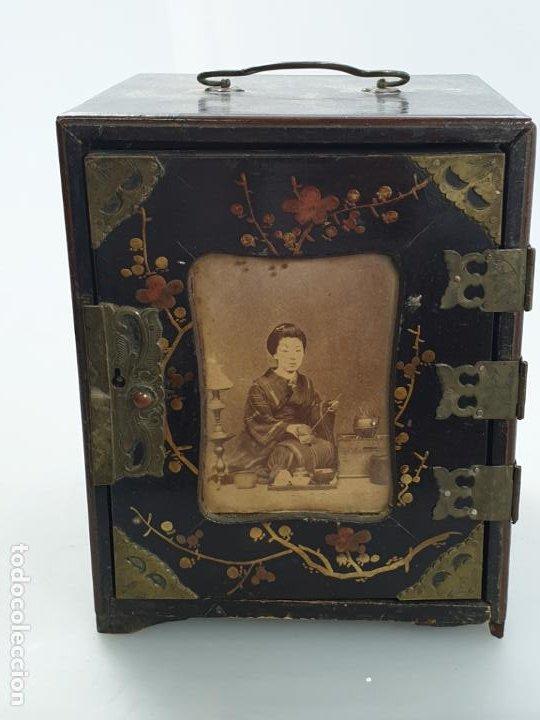 Antigüedades: CAJA MADERA CHINO CHINA SIGLO XIX - Foto 6 - 184110360