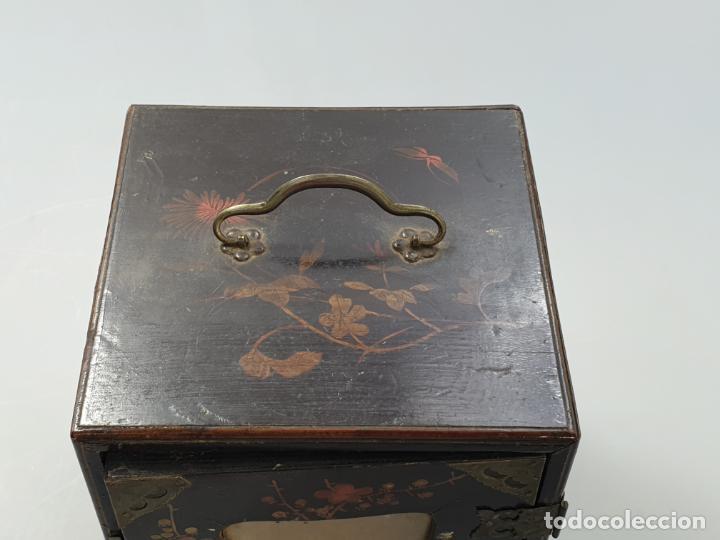 Antigüedades: CAJA MADERA CHINO CHINA SIGLO XIX - Foto 9 - 184110360