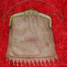 Antigüedades: BOLSO DE DAMA EN MALLA DE PLATA. 800/1000. ESTILO ISABELINO. ESPAÑA. SIGLO XIX. Lote 184113767