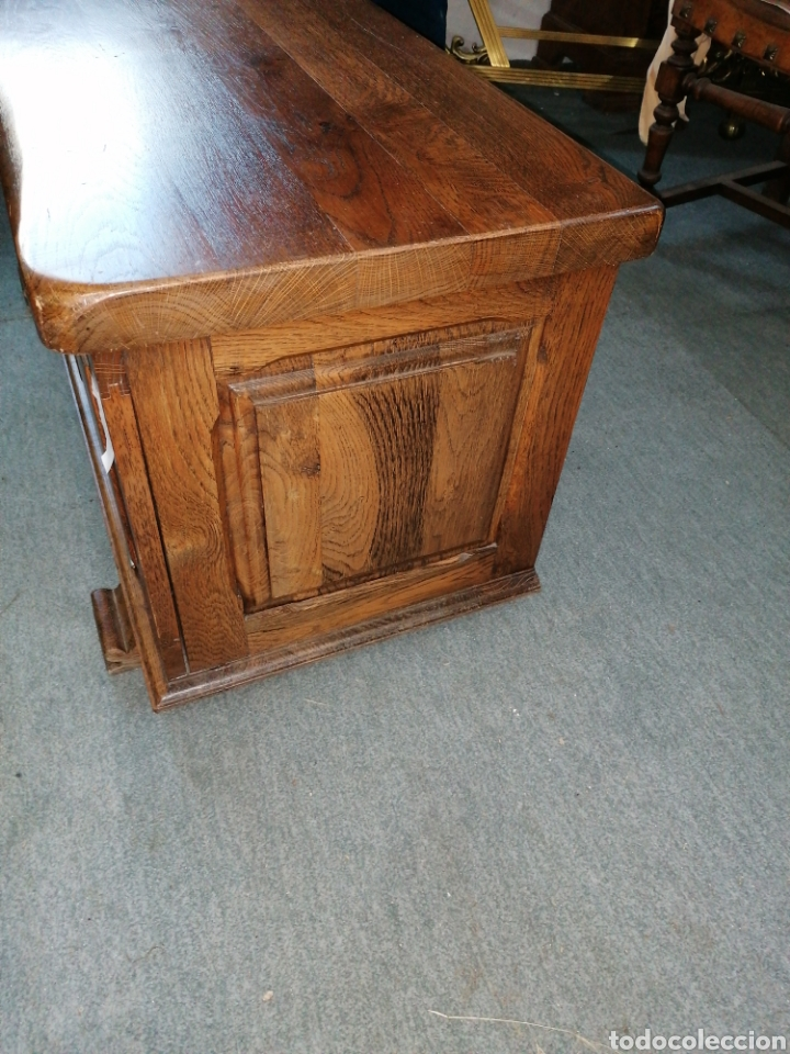Antigüedades: Arcón o baúl de roble macizo - Foto 3 - 184115370