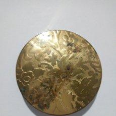 Antigüedades: POLVERA ANTIGUA DORADA. Lote 184120880