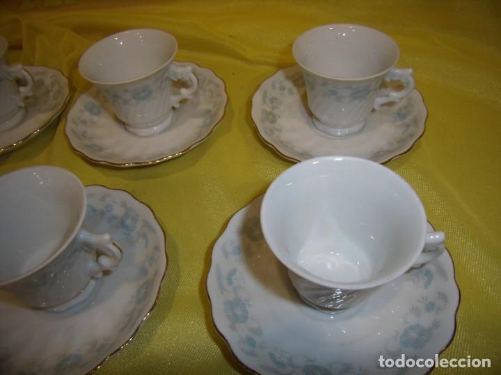 Antigüedades: Juego café porcelana China, filo de oro, 12 piezas, años 80, caja original, Nuevo sin usar. - Foto 4 - 184122152